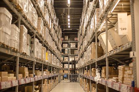 仓库货架购物节柜子箱子高清图片