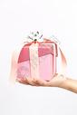 手捧粉色礼物盒图片