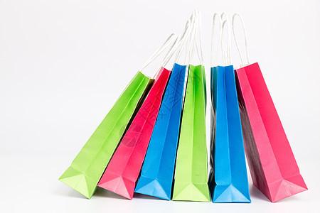 不同颜色手提购物袋图片