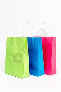 不同颜色纸质购物袋图片
