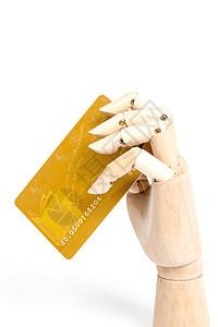 木制手模型刷消费卡图片