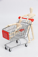 亲子超级市场购物图片