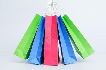 多色购物袋电商素材图片