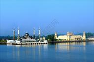马来西亚丁加奴水上清真寺图片