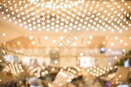 清新文艺商场构造灯光虚化图片