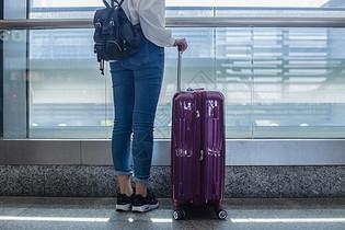 放假旅游女人背景等待图片