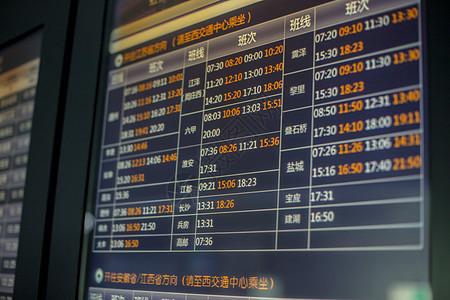 机场航站楼航班信息特写图片