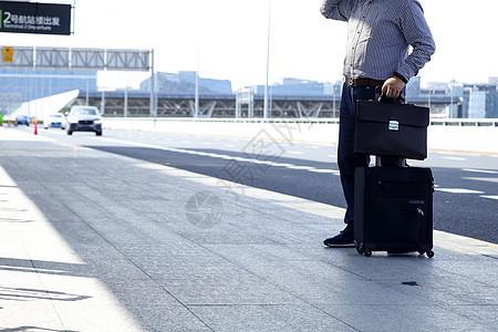 企业商务旅行机场出发图片