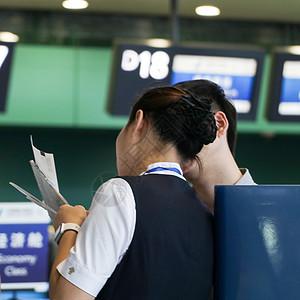 机场地勤空姐讲解服务图片