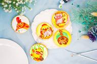 动物主题庆典手绘糖霜饼干图片