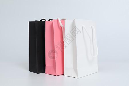 高端纯色购物袋拍摄图片