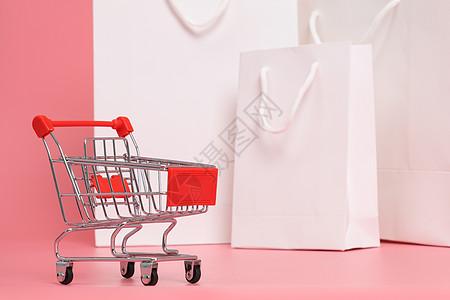 超市手推车购物车素材图片