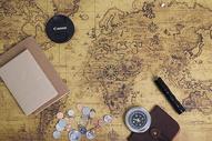 旅行出游计划地图背景图片