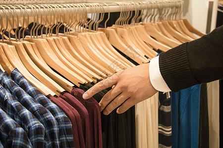 秋季服装条纹衫衫衬衣架图片