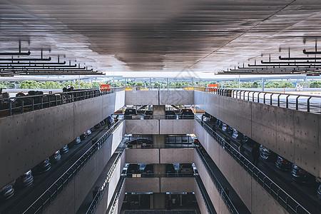 机场停车场图片