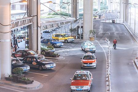 机场出租车等候区机场接送图片