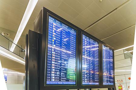 机场航班显示表图片