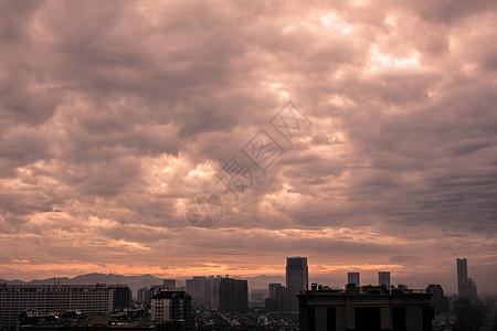 傍晚的火烧云图片