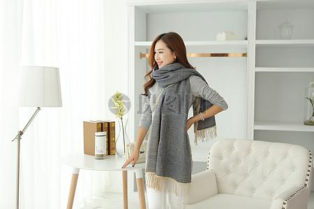 羊绒围巾图片