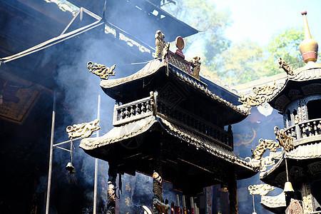 寺庙香火图片