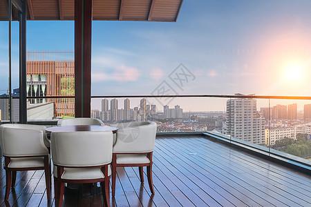 三亚湾俯瞰阳台图片