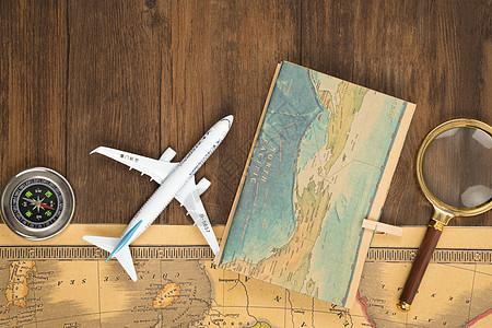 牛皮纸地图旅行设计素材图片