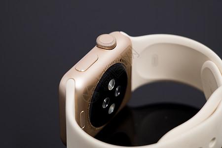 苹果智能手表背面特写图片