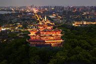 长沙 杜甫江阁夜景图片