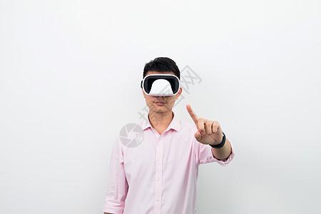 虚拟现实VR点击素材图片