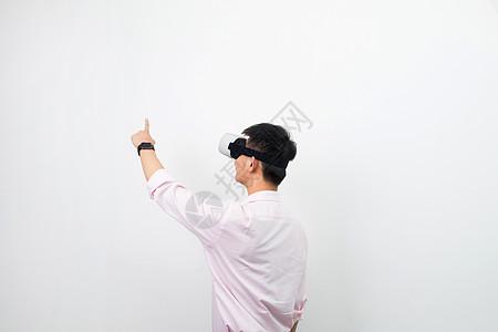 虚拟现实VR背影图片