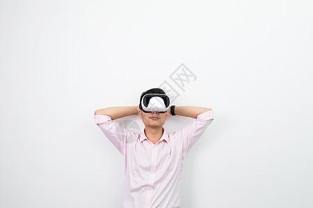 虚拟现实VR休息展望动作图片