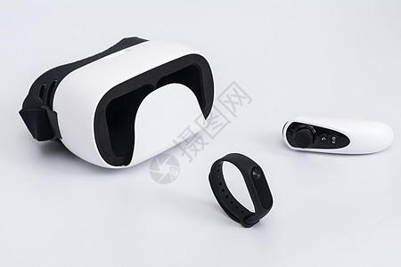 白色VR眼镜手环遥控器图片