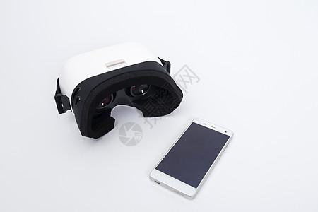 VR眼镜手机组合高清图图片