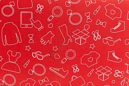 物流快递红色盒子特写图片