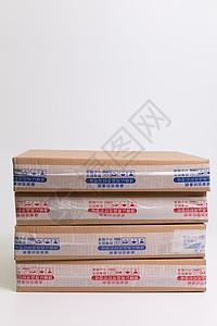 物流快递纸质盒子叠放图片
