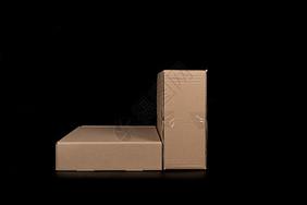 物流快递纸质盒子排列图片