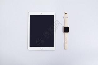 平板电脑和苹果手表图片