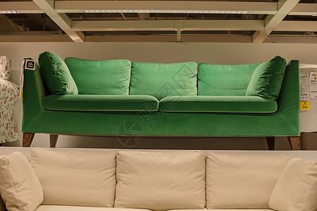 清新文艺家具绿色沙发图片