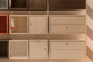 清新文艺家具木质柜子图片