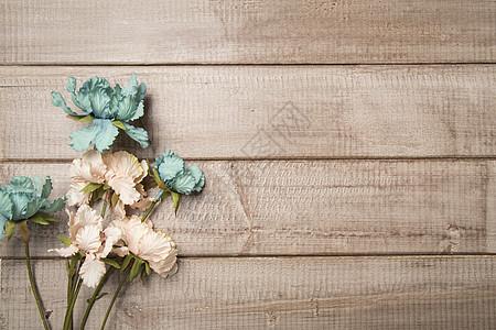 复古风花艺木木板设计素材图片
