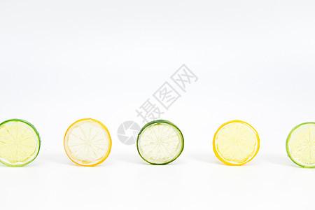 清新留白柠檬片设计背景图片