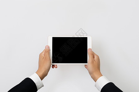 手持横屏平板电脑图片