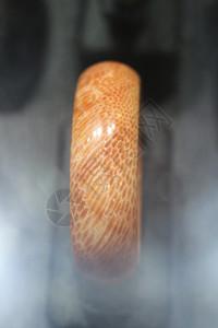 蛇纹珊瑚化石玉镯图片