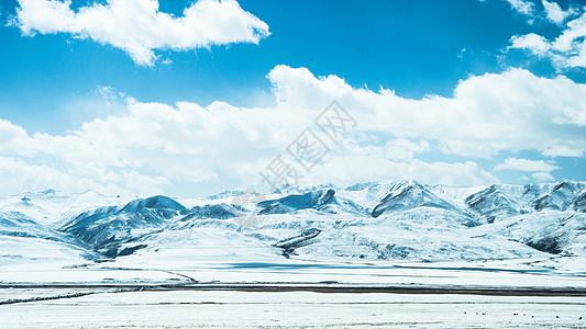 祁连山脉雪景图片