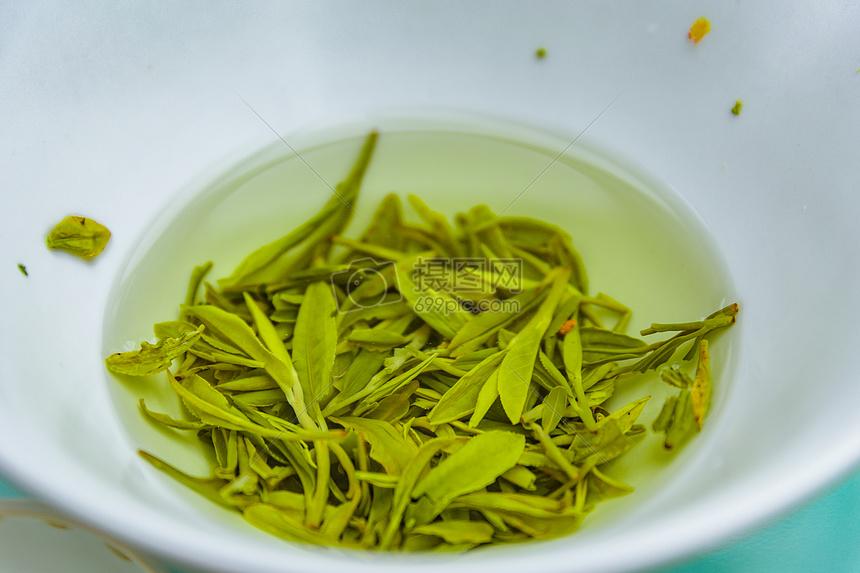 绿茶茶叶茶具图片