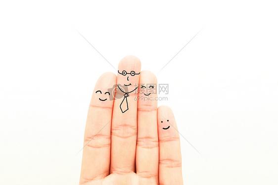 手指表情创意手指画素材图片