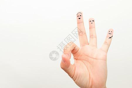创意手指画手指表情图片