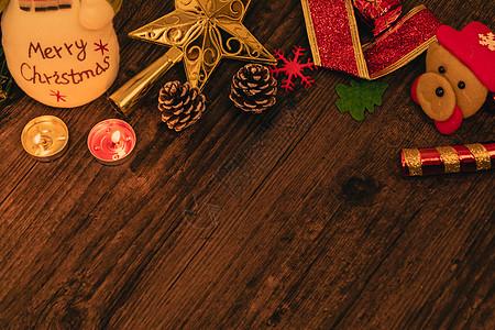圣诞节暖色可爱背景图片