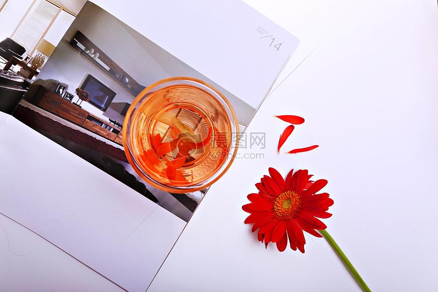 花茶杯俯视图图片