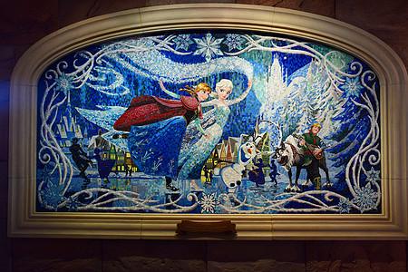 迪士尼白雪公主背景墙图片